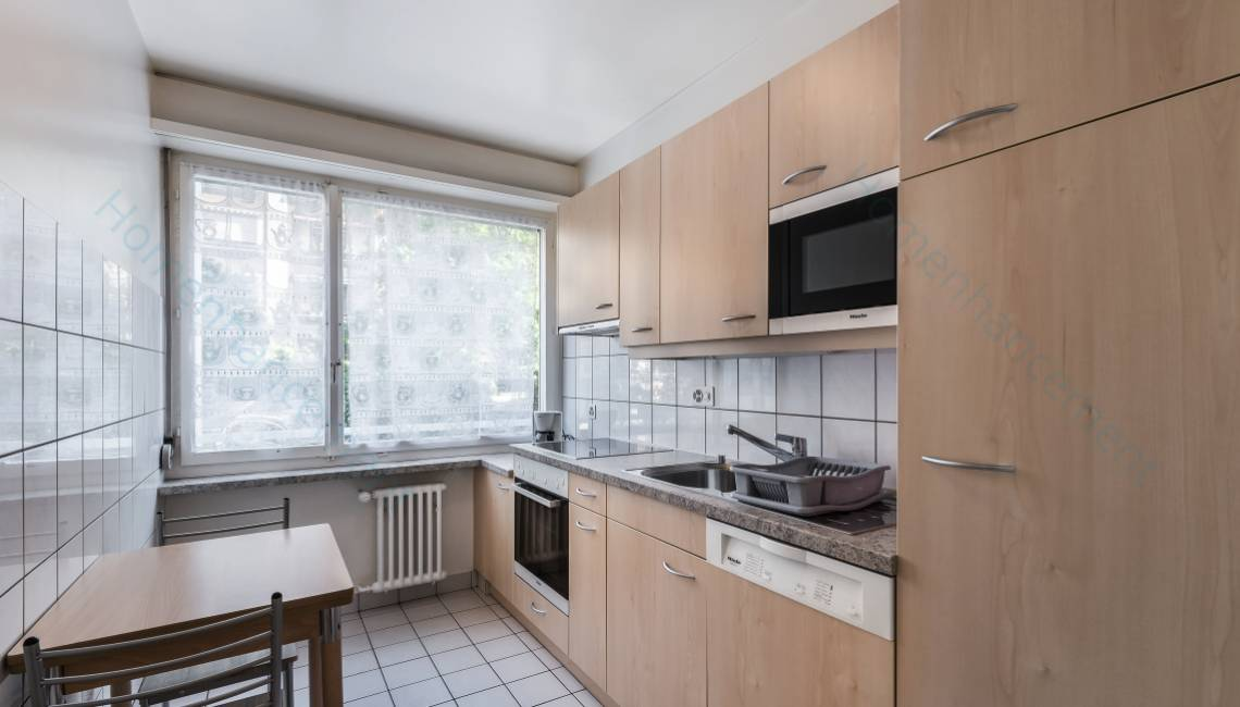 Rental Furnished One Bedroom Apartment, in Geneva Center for Flexible Long Term Rental - Champel