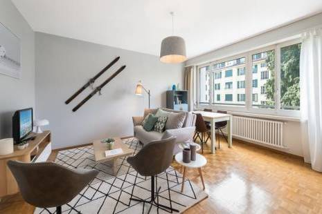 Nice Furnished Apartment Decorated under the Theme of Sport, in Geneva Center