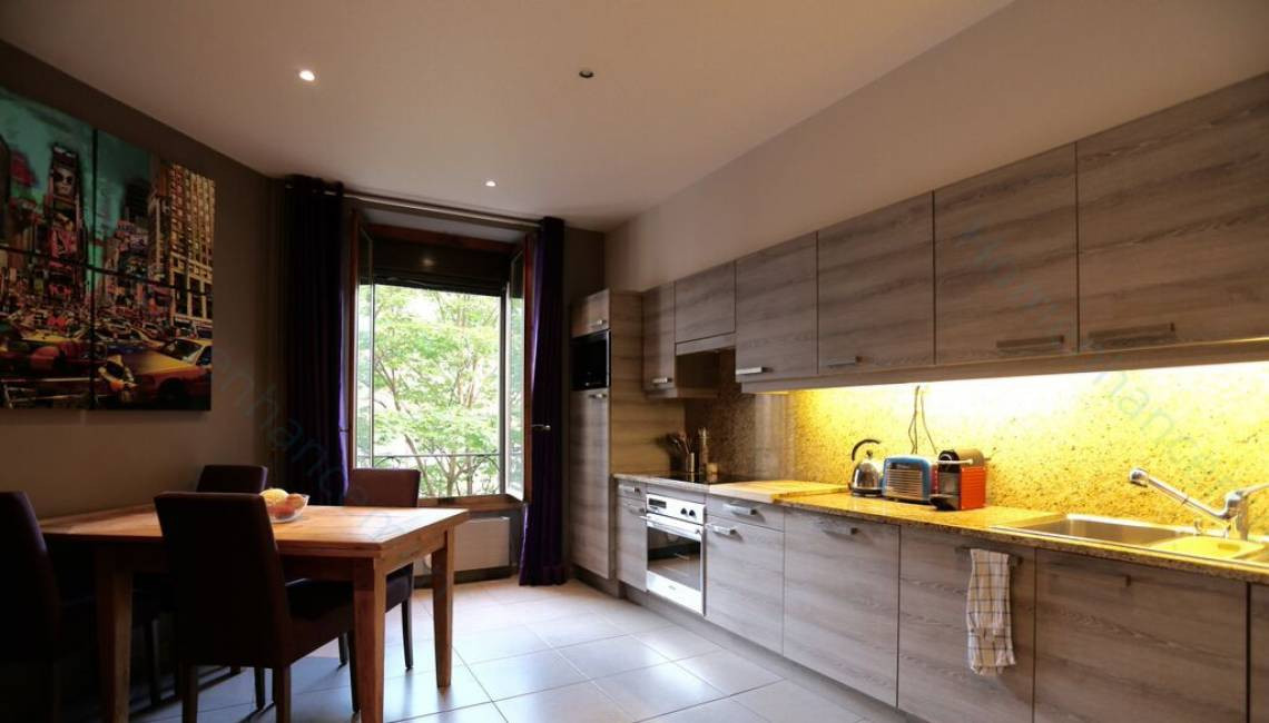 Rental Furnished one bedroom apartment in the heart of a dynamic area, contemporary decoration - Eaux-Vives