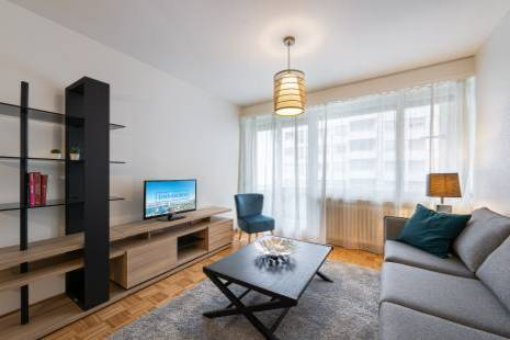 Lovely furnished and renovated one bedroom apartment in Champel
