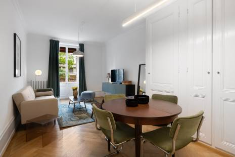 Lovely furnished one bedroom apartment in Carouge